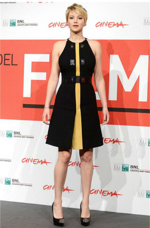 Jennifer Lawrence appears at a photo call for &#39;The Hunger Games: Catching Fire&#39; during the 2013 Rome Film Festival in Rome, Italy on Nov. 14, 2013. <span class=meta>(Eric Vandeville &#47; Startraksphoto.com)</span>