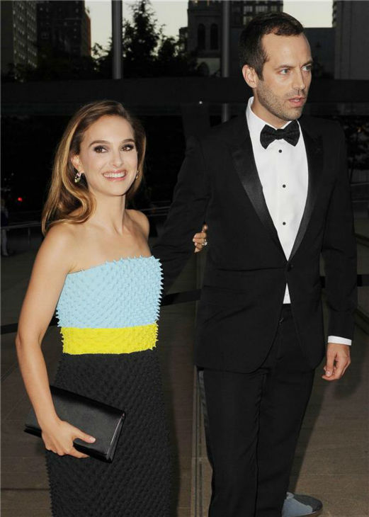 "<div class=""meta ""><span class=""caption-text "">Natalie Portman and husband Benjamin Millepied attend the New York City Ballet 2013 Fall Gala at the David H. Koch Theater at Lincoln Center in New York on Sept. 19, 2013. Portman is wearing a Christian Dior Fall 2013 Haute Couture gown. She is a spokesmodel for the luxury brand. (Humberto Carreno / Startraksphotos.com)</span></div>"