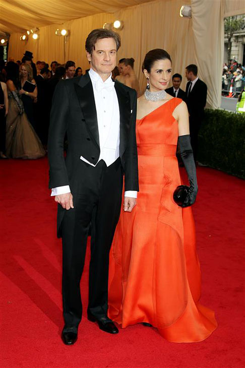 "<div class=""meta image-caption""><div class=""origin-logo origin-image ""><span></span></div><span class=""caption-text"">Colin Firth and wife Livia Giuggioli appear at the Metropolitan Museum of Art's 2014 Costume Institute Benefit gala, celebrating 'Charles James: Beyond Fashion,' in New York on May 5, 2014. (Marion Curtis / Startraksphoto.com)</span></div>"