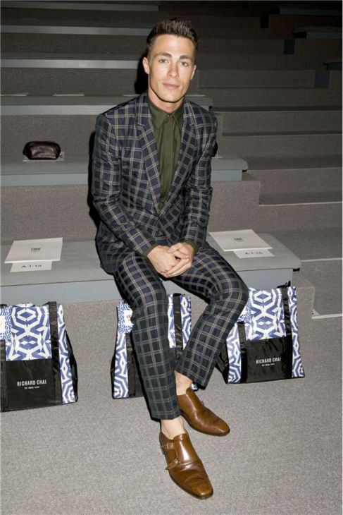&#39;Teen Wolf&#39; actor Colton Haynes appears at Richard Chai&#39;s fashion show at Lincoln Center in New York, part of the Spring 2014 Mercedes-Benz Fashion Week, on Sept. 5, 2013. <span class=meta>(Justin Campbell &#47; Startraksphoto.com)</span>