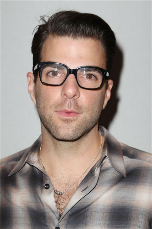Zachary Quinto appears at Richard Chai's fashion show at Lincoln Center in New York, part of the Spring 2014 Mercedes-Benz Fashion Week, on Sept. 5, 2013.