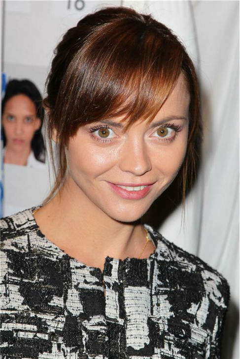 Christina Ricci appears at Richard Chai's fashion show at Lincoln Center in New York, part of the Spring 2014 Mercedes-Benz Fashion Week, on Sept. 5, 2013.
