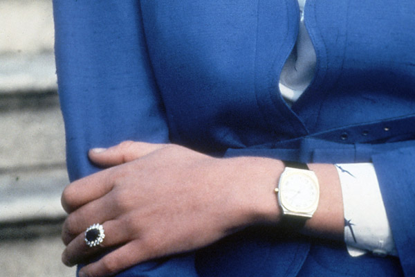 The engagement ring of Britain's Lady Diana...