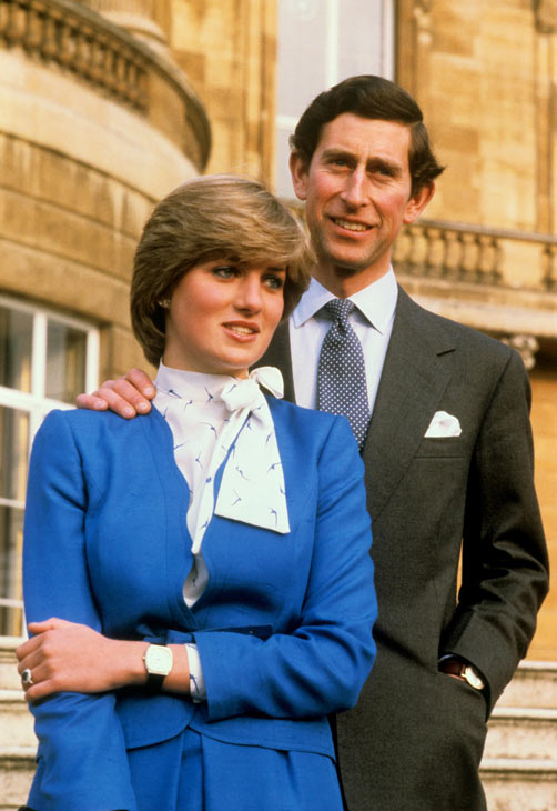 Prince Charles and Lady Diana Spencer pose...