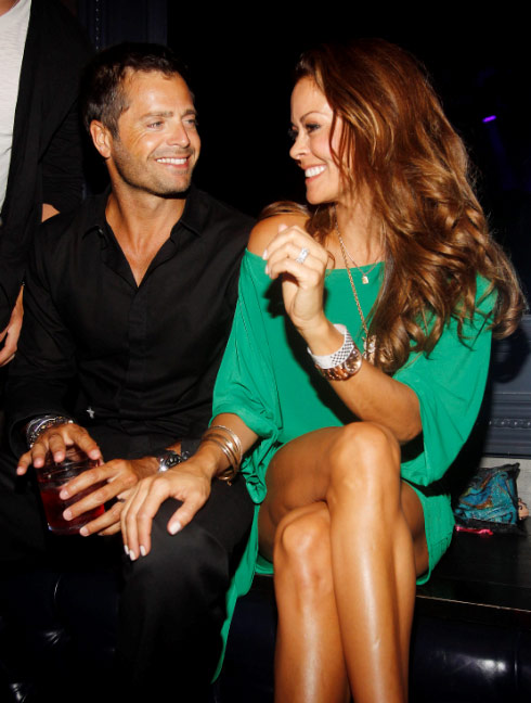 David Charvet and Brooke Burke attended the Dylan George and Abbot + Main Spring 2012 Launch and after party at Paris Las Vegas on Aug. 23, 2011.