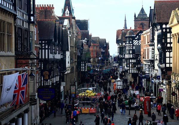 Pictured: Still image of Chester, England.