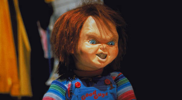 Chucky appears in a scene from the 1990 movie,...