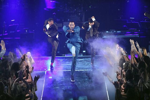Chris Brown performed on the ballroom stage and sang his hit song &#39;Turn up the Music&#39; on &#39;Dancing With The Stars: The Results Show&#39; on Tuesday, May 8, 2012. The song is the first single off his new album, &#39;Fortune,&#39; which is set for release on July 3.  <span class=meta>(OTRC)</span>
