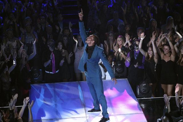 Chris Brown performed on the ballroom stage and sang his hit song 'Turn up the Music' on 'Dancing With The Stars: The Results Show' on Tuesday, May 8, 2012. The song is the first single off his new album, 'Fortune,' which is set for release on July 3.
