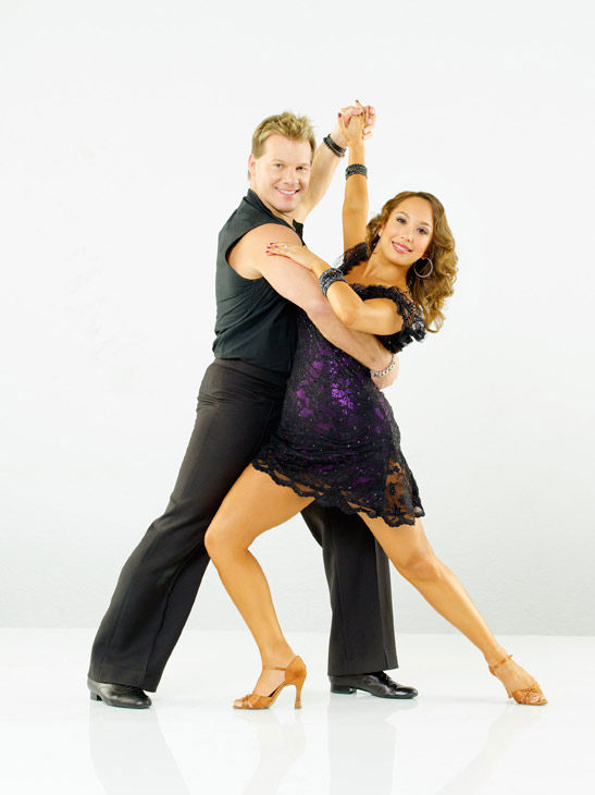 "<div class=""meta ""><span class=""caption-text "">Chris Jericho, six-time WWE world champion and New York Times best-selling author, joins Cheryl Burke, who is back for her eleventh season on season 12 of 'Dancing with the Stars,' which premieres on March 21 at 8 p.m.  (ABC Photo/ Bob D'Amico)</span></div>"