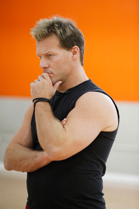 Chris Jericho looks pensive during rehearsal for...