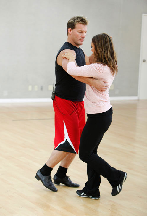 "<div class=""meta ""><span class=""caption-text "">Chris Jericho dances with his partner Cheryl Burke during rehearsal for season 12 of 'Dancing With the Stars,' which premieres on March 21 at 8 p.m. on ABC. (ABC Photo/ Greg Zabilski)</span></div>"