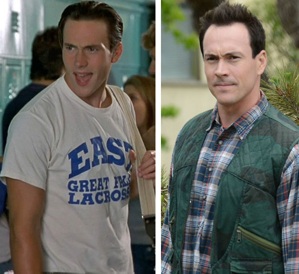 Chris Klein rose to fame as jock Paul Metzler &#40;&#39;You Betzler!&#39;&#41; in the 1999 movie &#39;Election&#39; alongside Reese Witherspoon and played Chris &#39;Oz&#39; Ostreicher in the first two &#39;American Pie&#39; films. After &#39;American Pie 2&#39; was released in 2001, Klein went on to star in the 2002 Mel Gibson movie &#39;We Were Soldiers&#39; and appeared in the short-lived series &#39;Welcome to the Captain&#39; in 2008. He reprised his &#39;American Pie&#39; role in the 2012 sequel &#39;American Reunion.&#39;  He and Katie Holmes dated and were engaged until 2005. That year, she married Tom Cruise.  In 2010, Klein spent four days in jail and was put on probation after he pleaded no contest in a DUI case.  Also that year, the actor made headlines when an online video of him singing ABBA songs, in what was labeled an audition for the 2008 film &#39;Mamma Mia!,&#39; surfaced and went viral. Klein later countered with a parody video on the comedy website Funny or Die.  In 2011, Klein began playing the recurring role of Drew on the FX comedy series &#39;Wilfred.&#39;  &#40;Pictured: Chris Klein appears in a scene from &#39;American Pie 2&#39; in 2001. &#47; Chris Klein appears in a season 2 episode of the FX series &#39;Wilfred&#39; in 2012.&#41; <span class=meta>(Universal Pictures &#47; Michael Becker &#47; FX)</span>