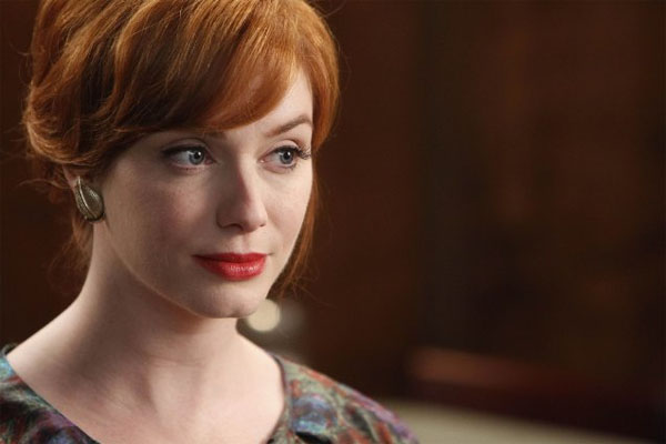 "<div class=""meta ""><span class=""caption-text "">Christine Hendricks turns 37 on May 2, 2012. The actress is known for her role as Joan on the show 'Mad Men.' The Tennessee native is also known for shows such as 'Kevin Hill' and films such as 'Life as We Know It.'  (Lionsgate Television)</span></div>"