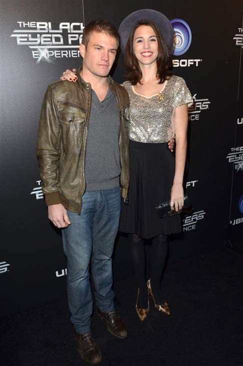 Christy Romano and Brendan Rooney appear at The Black Eyed Peas Experience launch party in Los Angeles, California on Nov. 21, 2011.