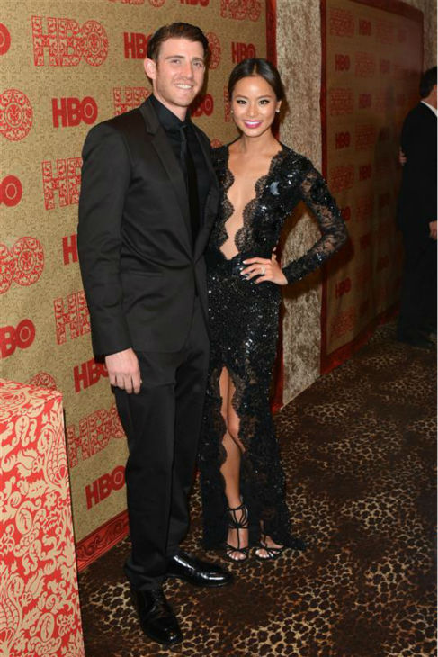 Jamie Chung &#40;Mulan on ABC&#39;s &#39;Once Upon A Time&#39;&#41; and fiance Bryan Greenberg appear at HBO&#39;s 2014 Golden Globe Awards after party at the Circa 55 restaurant in Beverly Hills, California on Jan. 12, 2014. <span class=meta>(Tony DiMaio &#47; Startraksphoto.com)</span>