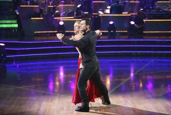 Chynna Phillips returned to the ballroom for a final performance on 'Dancing With The Stars: The Results Show,' on Tuesday, November 22, 2011. She appears here with show partner Tony Dovolani.