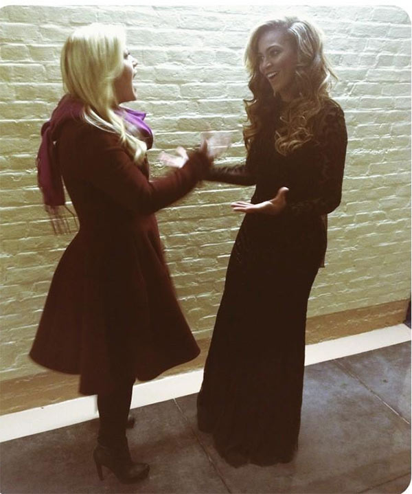 Kelly Clarkson Tweeted this photo of herself with Beyonce at the Presidential Inauguration of President Barack Obama on Jan. 21, 2013.