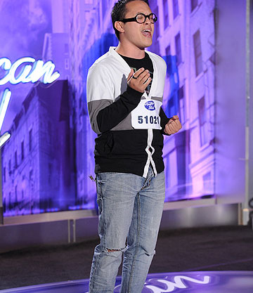 Clint Jun Gamboa, a 26-year-old from Long Beach, CA, was made an 'American Idol' Top 24 finalist. (Pictured: Clint Jun Gamboa performs in front of the judges on 'American Idol' on an episode that aired on Feb. 9, 2011.)