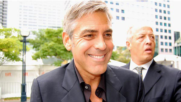 George Clooney appears in a photo from the 'Men Who Stare at Goats' premiere in Toronto.