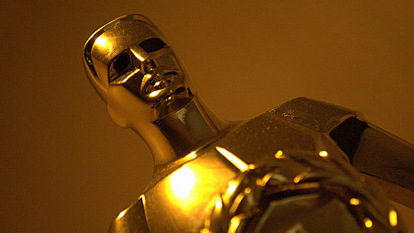 A photo of an Oscar award.