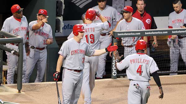 A photo of the Cincinnati Reds in 2011.