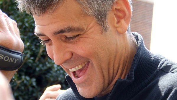 Clooney appears in a photo at The Westin Poinsett Hotel in South Carolina in 2008.