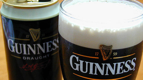 A photo of Guinness beer.