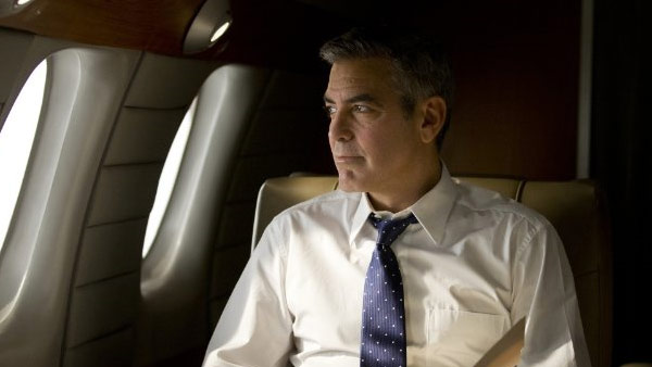 Clooney appears in a scene from the 2011 film 'The Ides of March.'