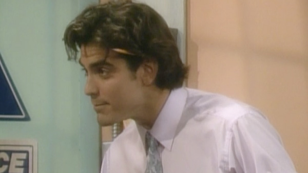 A photo of George Clooney from an appearance in 'Roseanne.'