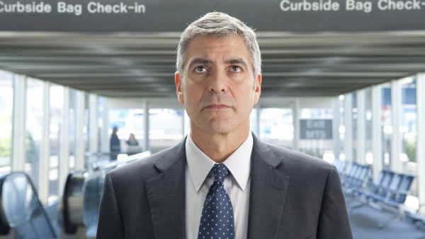 Clooney appears in a scene from the 2009 film 'Up in the Air.'