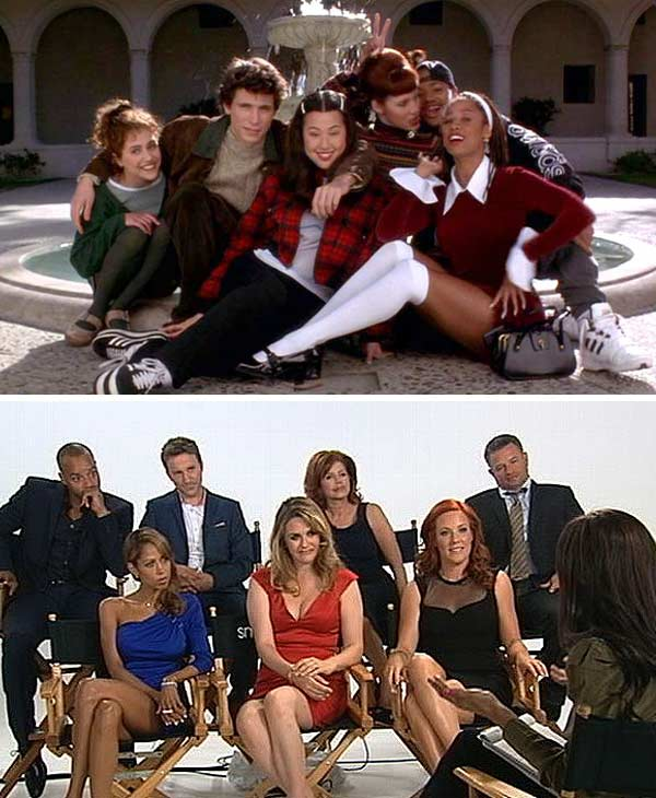 In 2012, the cast reunited with OTRC.com&#39;s Rachel Smith on &#39;Good Morning America,&#39; to celebrate their spread in Entertainment Weekly&#39;s reunion issue.   &#40;Pictured: Top, L-R: Brittany Murphy, Jeremy Sisto, Nicole Bilderback, Elisa Donovan, Donald Faison and Stacey Dash appear in a still from &#39;Clueless.&#39; Bottom, L-R: Donald Faison, Stacey Dash, Breckin Meyer, Alicia Silverstone, Twink Caplan, Elisa Donovan and Justin Walker appear with OTRC.com&#39;s Rachel Smith on &#39;Good Morning America.&#39;&#41;  <span class=meta>(Paramount Pictures &#47; ABC News)</span>