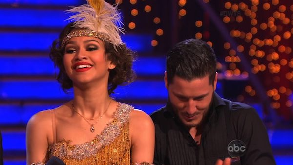 "<div class=""meta image-caption""><div class=""origin-logo origin-image ""><span></span></div><span class=""caption-text"">'Shake It Up' actress Zendaya Coleman and her partner Val Chmerkovskiy received 26 out of 30 points from the judges for their Jive routine on week 2 of 'Dancing With The Stars,' which aired on March 25, 2013. They received a total of 50 out of 60 points for the past two weeks of performances.  (ABC Photo / Adam Taylor)</span></div>"
