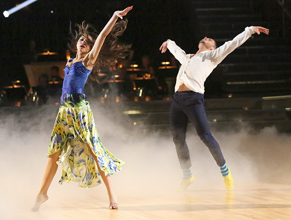 &#39;Shake It Up&#39; actress Zendaya Coleman and her partner Val Chmerkovskiy received 24 out of 30 points from the judges for their Contemporary routine on the season premiere of &#39;Dancing With The Stars,&#39; which aired on March 18, 2013. <span class=meta>(ABC Photo)</span>