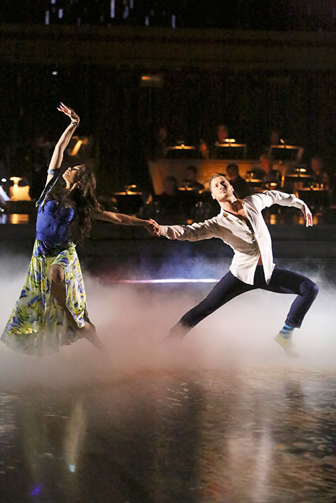 'Shake It Up' actress Zendaya Coleman and her partner Val Chmerkovskiy dance on the season 16 premiere of 'Dancing With The Stars' on March 18, 2013.