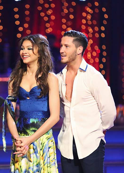"<div class=""meta image-caption""><div class=""origin-logo origin-image ""><span></span></div><span class=""caption-text"">'Shake It Up' actress Zendaya Coleman and her partner Val Chmerkovskiy received 24 out of 30 points from the judges for their Contemporary routine on the season premiere of 'Dancing With The Stars,' which aired on March 18, 2013. (ABC Photo / Adam Taylor)</span></div>"