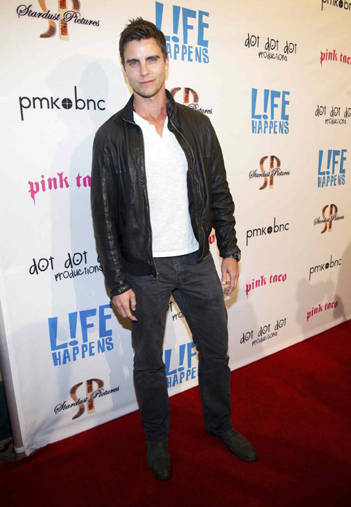 "<div class=""meta ""><span class=""caption-text "">Colin Egglesfield attends the after party of the premiere of 'L!fe Happens' at Harry Morton's Pink Taco in Century City, California on April 2, 2012.  (WireImage / John Sciulli)</span></div>"