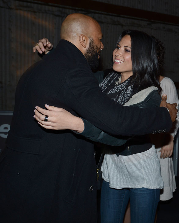 Olivia Munn and Common attend the launch of the 2012 Jeep Wrangler Unlimited Altitude Edition at the Los Angeles Center Studios on April 22, 2012.
