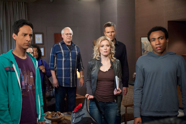 Still image of the members of the show 'Community.'
