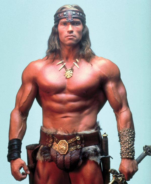 Arnold Schwarzenegger appears in a still from the 1982 film Conan the Barbarian. - Provided courtesy of Universal Pictures