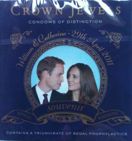 Prince William and Kate Middleton condoms going for &#36;32.90 on eBay as of April 27, 2011. <span class=meta>(Ebay user steamtr41n&#47; myworld.ebay.com&#47;steamtr41n&#47;)</span>