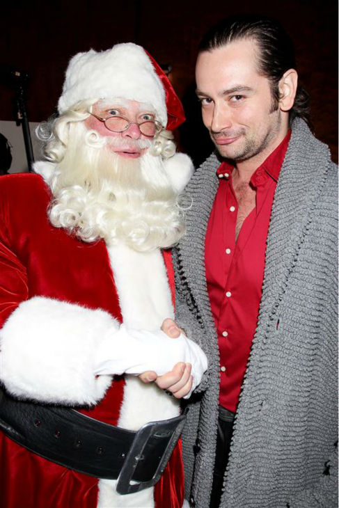 &#39;American Idol&#39; alum and Broadway singer Constantine Maroulis poses with Santa Claus at the opening night of the 2013 Radio City Christmas Spectacular, honoring the Garden of Dreams Foundation, at Radio City Music Hall in New York on Nov. 13, 2013. <span class=meta>(Dave Allocca &#47; Startraksphoto.com)</span>