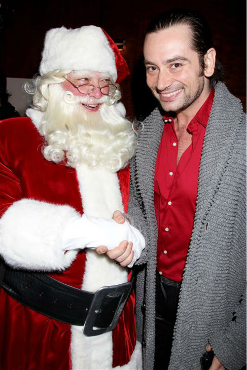"<div class=""meta ""><span class=""caption-text "">'American Idol' alum and Broadway singer Constantine Maroulis poses with Santa Claus at the opening night of the 2013 Radio City Christmas Spectacular, honoring the Garden of Dreams Foundation, at Radio City Music Hall in New York on Nov. 13, 2013. (Dave Allocca / Startraksphoto.com)</span></div>"