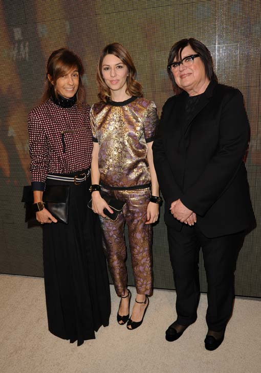 "<div class=""meta ""><span class=""caption-text "">Marni's Founder and Creative Director, Consuelo Castiglioni, the director of the Marni at H and M campaign, director Sofia Coppola and Margareta van den Bosch, H and M's Creative Advisor, attend the launch party for H and M's Marni collection in Los Angeles on Feb. 17, 2012. (H and M / Marni)</span></div>"