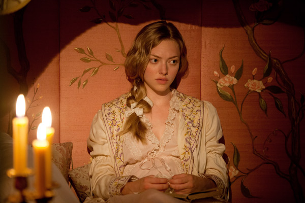 Amanda Seyfried appears as Cosette in a scene...