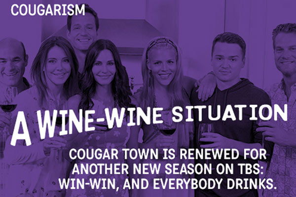 The cast of Cougar Town appears in a season 5 renewal notice released by TBS on March 25, 2013. - Provided courtesy of Turner Broadcasting System