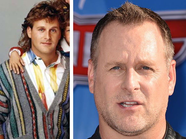 Dave Coulier appears in a promotional photo for 'Full House.'/  Dave Coulier appears at the premiere of the Disney movie 'Planes' in Hollywood, California on Aug. 5, 2013.