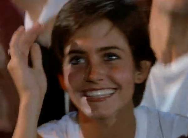 Courteney Cox appears in a scene from the 1984 music video 'Dancing in the Dark.'