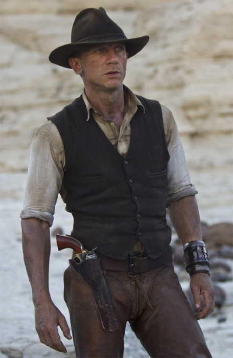 Daniel Craig told The Today Show in July of 2011 that in order to prepare for his role in &#39;Cowboys and Aliens&#39; &#40;2011&#41;, he watched old cowboy movies such as &#39;Stagecoach&#39; &#40;1939&#41; and rode horses every morning. The British actor had to act like an American cowboy, which meant he had to learn an American accent and work with real cowboys and wranglers. &#40;Pictured: Daniel Craig appears in a scene from the 2011 film &#39;Cowboys and Aliens.&#39;&#41; <span class=meta>(Universal Pictures &#47; Dreamworks Pictures)</span>