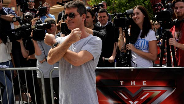 (Pictured: Simon Cowell at the Los Angeles taping of 'The X Factor' in 2011.)
